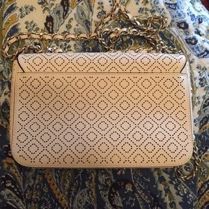 32c94b5eec9 Tory Burch Bags - Tory Burch perforated white leather purse